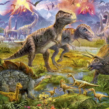 E 15969 Dinosaur gathering