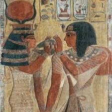 r 87664 sethi 1er et hathor bas relief egyptien. Black Bedroom Furniture Sets. Home Design Ideas