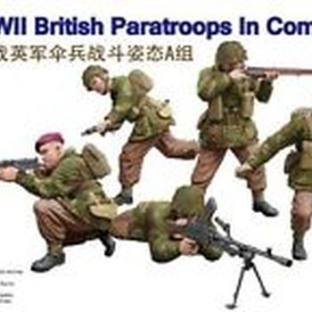 B 35130 British paratroops in combat set A
