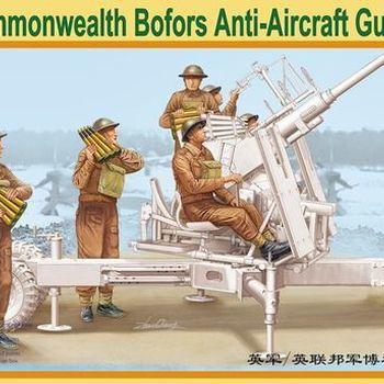 B 35084 British/Commonwealth Bofors Anti-aircraft gun crew