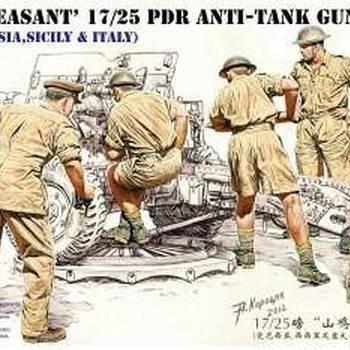 B 35135 'Pheasant' 17/25pdr Anti-tank gun crew set