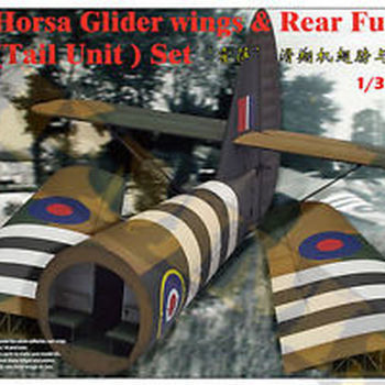 B 3574 Horsa glider wings & rear fuselage (Tail unit ) set 1/35