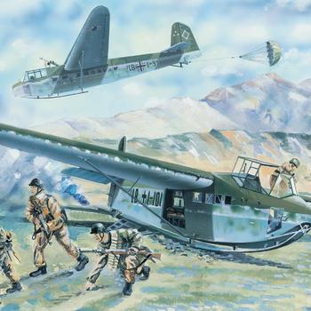 B 35039 German tactical assault glider DFS 230 B-1 With fallschirmjäger (4 fig)