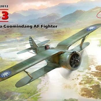 I 32012  I-153 WWII China Guomindang AF Fighter 1/32