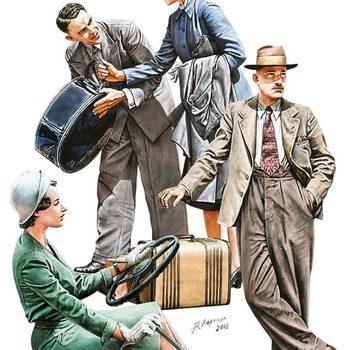 MA 38017 Auto travelers 1930-40's