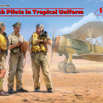 I 32106 British pilots in tropical uniform 1/32