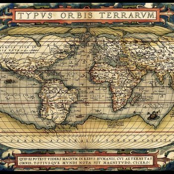 A 5521 First modern atlas 1570 Ortelius