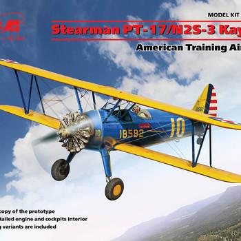 I 32050 Stearman PT-17/N2S-3 Kaydet American training aircraft 1/32